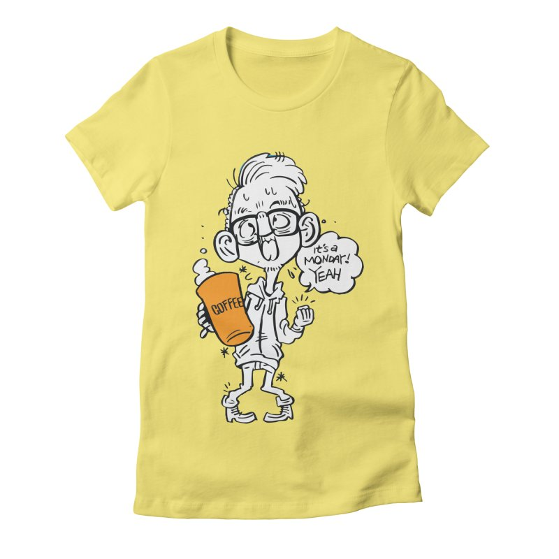 Drunk Monday Women's Fitted T-Shirt by Shop Yildiray Atas