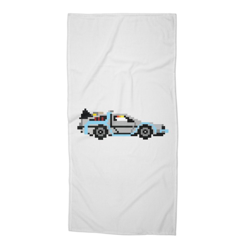 Back To The 8 Bit Accessories Beach Towel by YA! Store