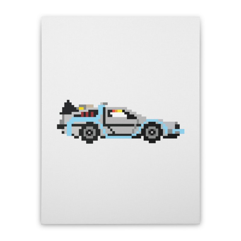 Back To The 8 Bit Home Stretched Canvas by YA! Store