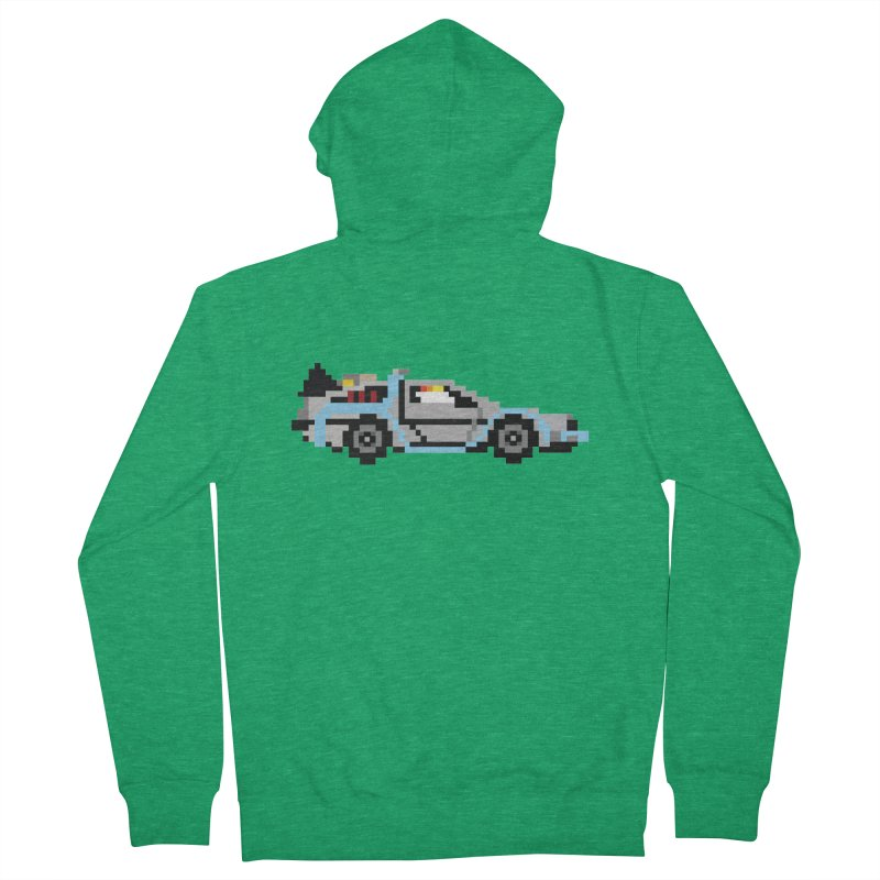 Back To The 8 Bit Men's French Terry Zip-Up Hoody by YA! Store