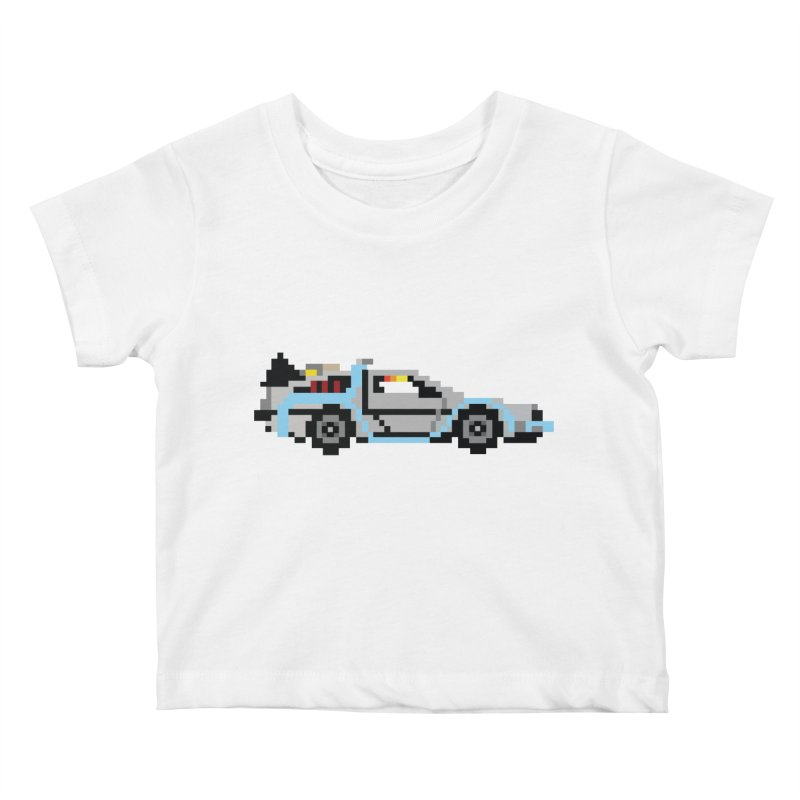 Back To The 8 Bit Kids Baby T-Shirt by YA! Store