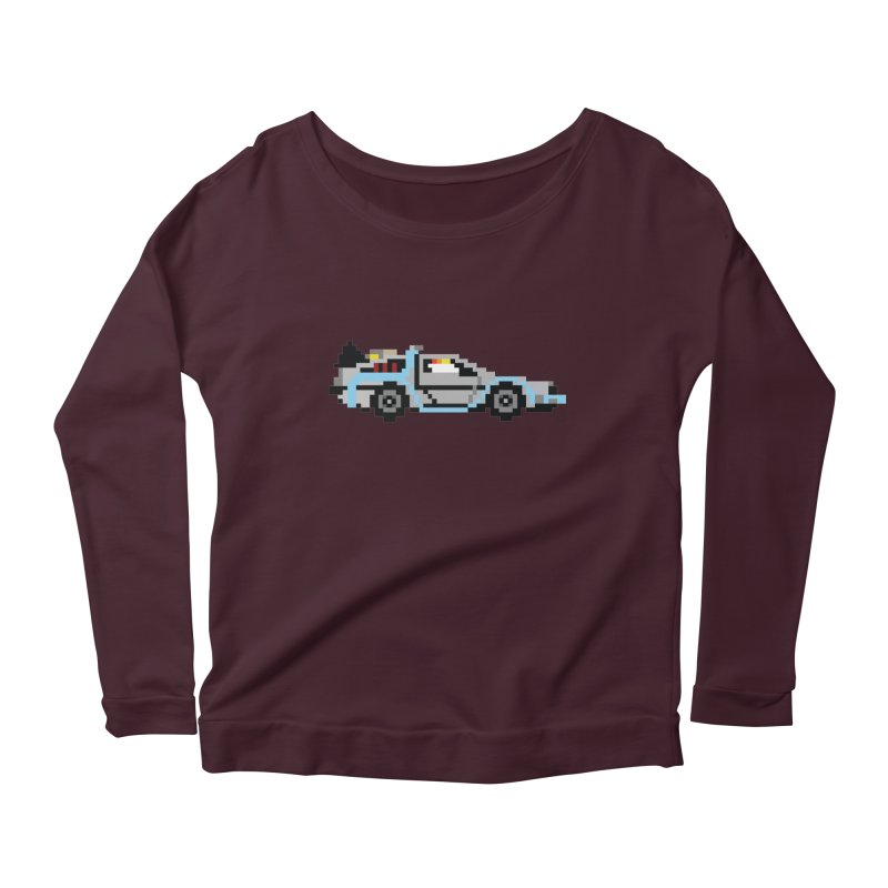 Back To The 8 Bit Women's Scoop Neck Longsleeve T-Shirt by YA! Store
