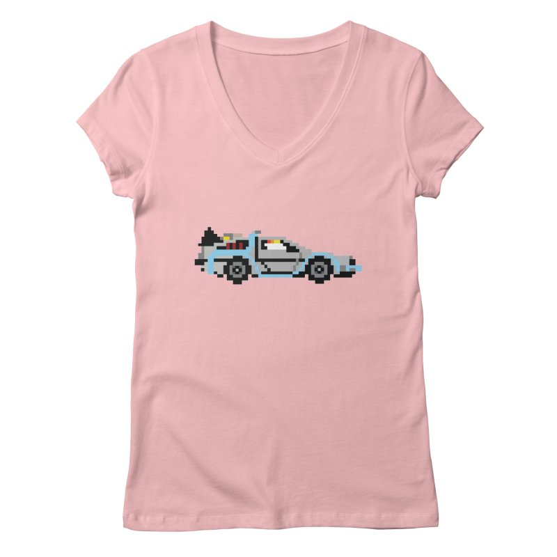 Back To The 8 Bit Women's Regular V-Neck by YA! Store