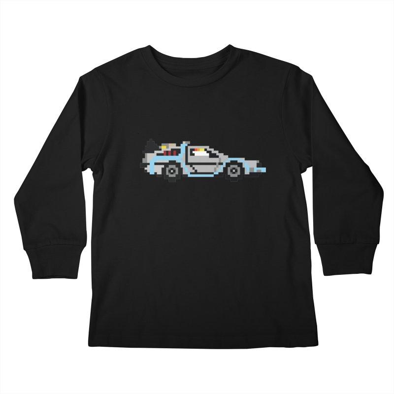 Back To The 8 Bit Kids Longsleeve T-Shirt by YA! Store