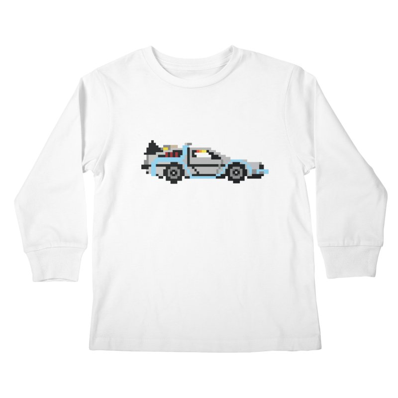 Back To The 8 Bit Kids Longsleeve T-Shirt by YA! Store