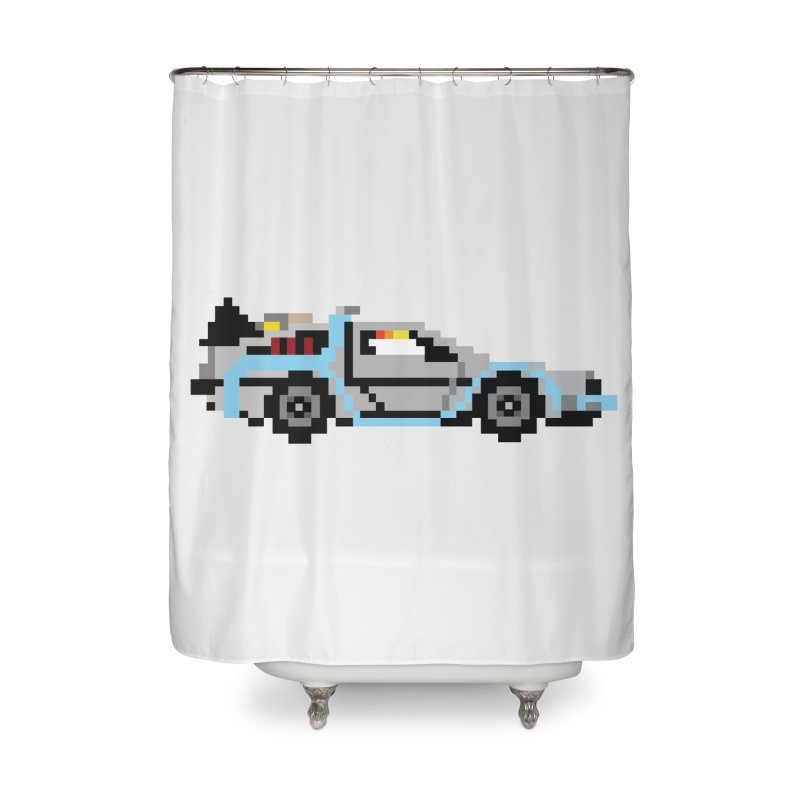 Back To The 8 Bit Home Shower Curtain by YA! Store