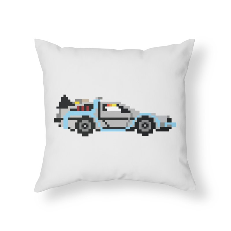 Back To The 8 Bit Home Throw Pillow by YA! Store
