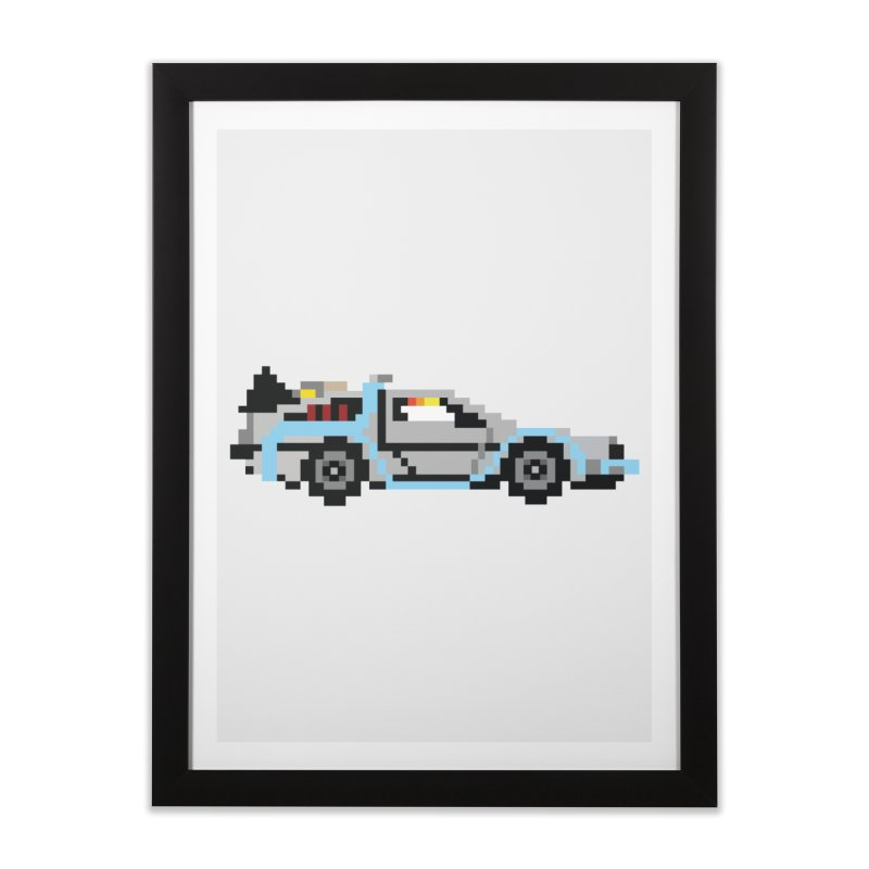 Back To The 8 Bit Home Framed Fine Art Print by YA! Store