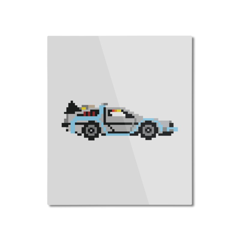 Back To The 8 Bit Home Mounted Aluminum Print by YA! Store