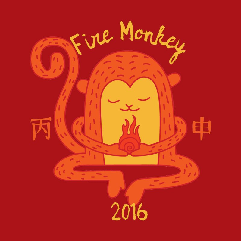 Fire Monkey Baby   by yinyangwest's Artist Shop