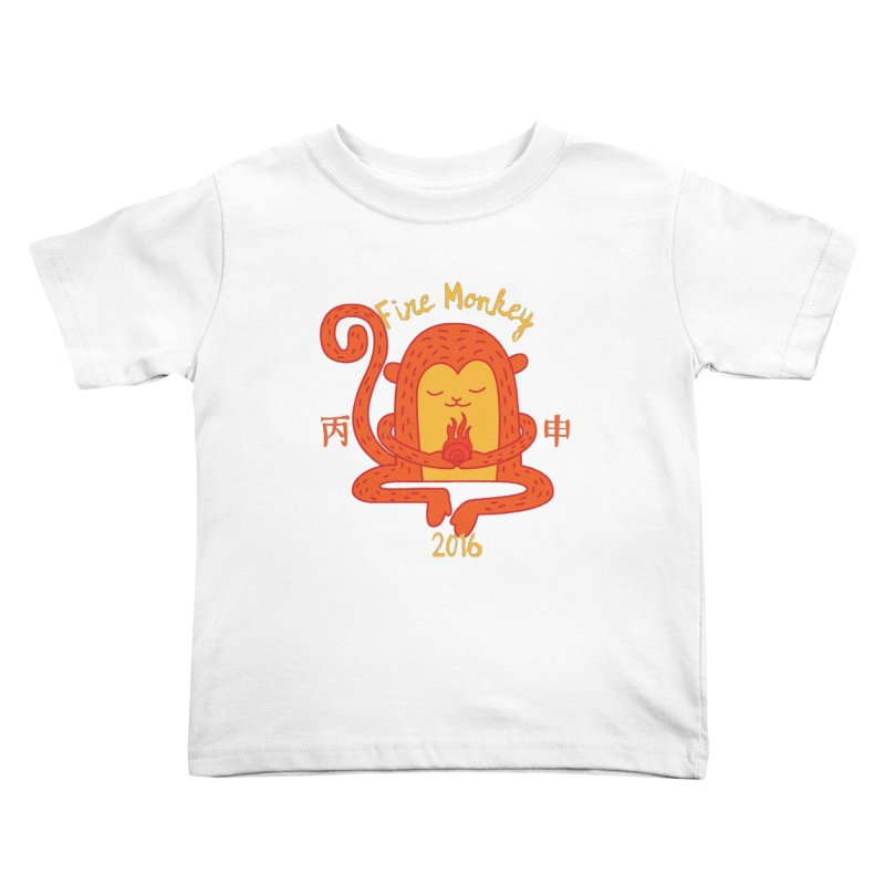 Fire Monkey Baby Kids Toddler T-Shirt by yinyangwest's Artist Shop