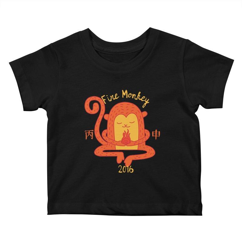 Fire Monkey Baby Kids Baby T-Shirt by yinyangwest's Artist Shop