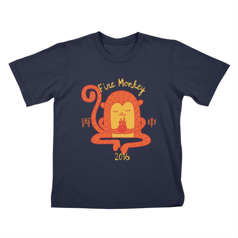 Fire Monkey Baby Kids T-Shirt by yinyangwest's Artist Shop