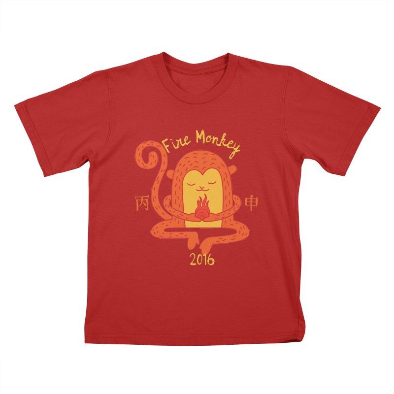 Fire Monkey Baby Kids T-shirt by yinyangwest's Artist Shop