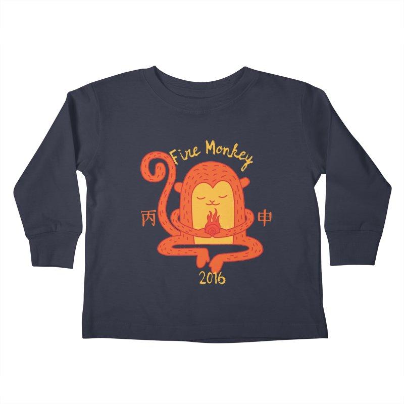 Fire Monkey Baby Kids Toddler Longsleeve T-Shirt by yinyangwest's Artist Shop