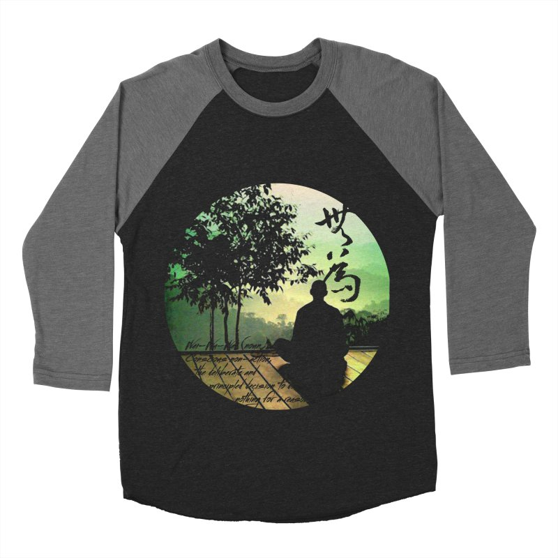 Wei Wu Wei in Men's Baseball Triblend T-Shirt Grey Triblend Sleeves by yinyangwest's Artist Shop