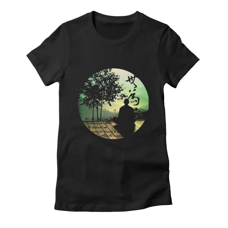 Wei Wu Wei Women's Fitted T-Shirt by yinyangwest's Artist Shop