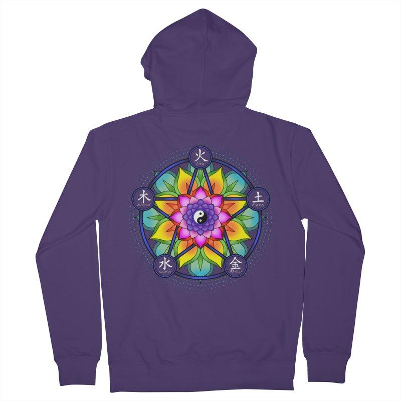 Five Elements Mandala Women's Zip-Up Hoody by yinyangwest's Artist Shop