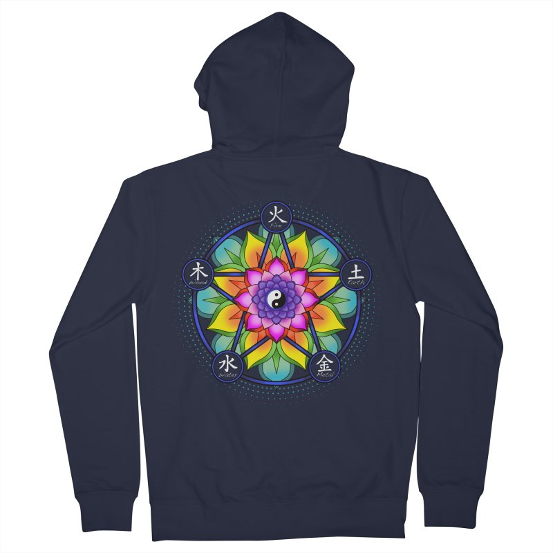 Five Elements Mandala Women's Zip-Up Hoody by yinyangwest's Artist Shop