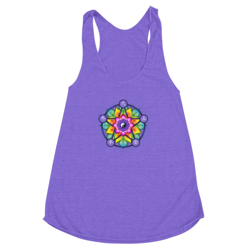 Five Elements Mandala Women's Racerback Triblend Tank by yinyangwest's Artist Shop