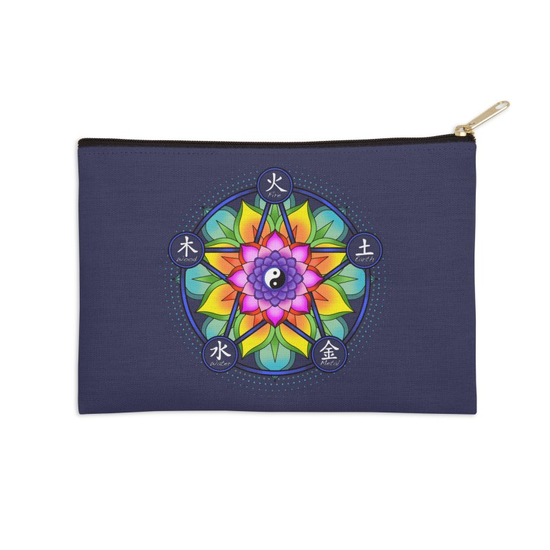 Five Elements Mandala Accessories Zip Pouch by yinyangwest's Artist Shop
