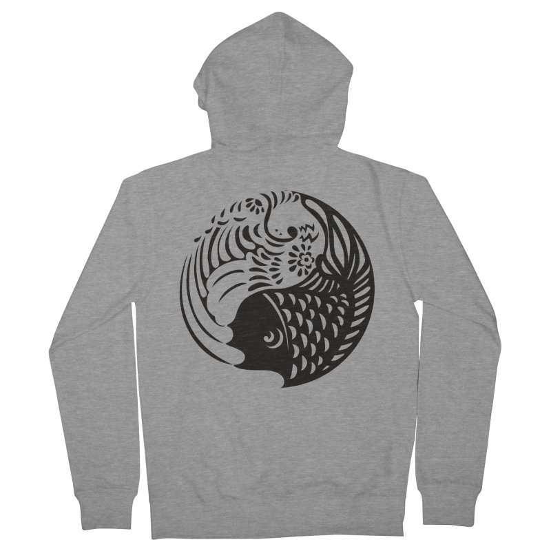 Yin Yang West Logo Black Women's Zip-Up Hoody by yinyangwest's Artist Shop