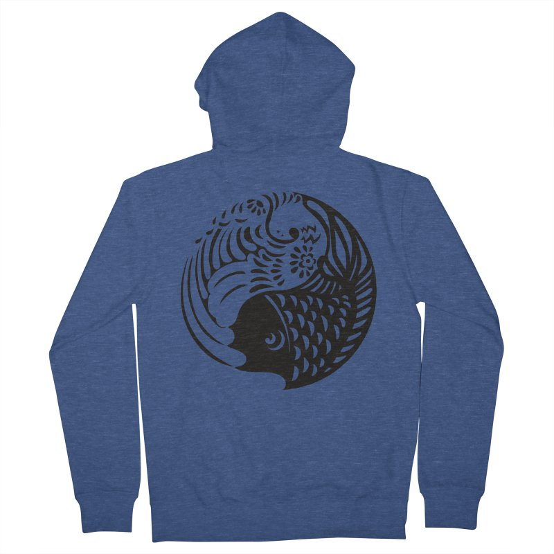Yin Yang West Logo Black Men's Zip-Up Hoody by yinyangwest's Artist Shop
