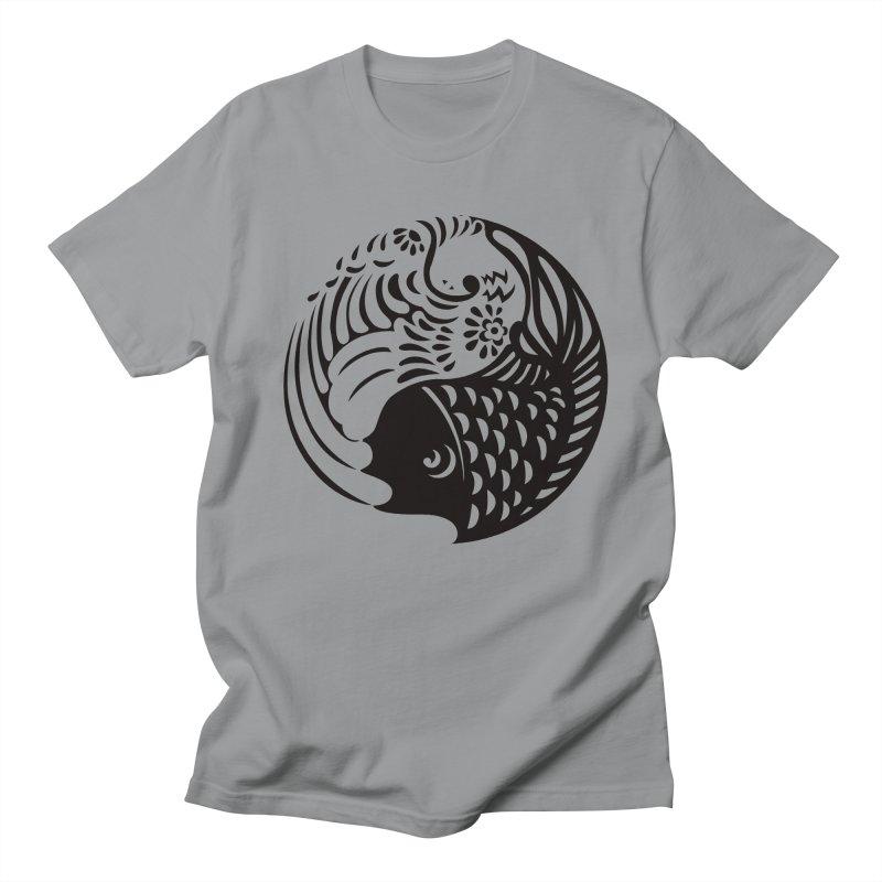 Yin Yang West Logo Black Men's T-shirt by yinyangwest's Artist Shop