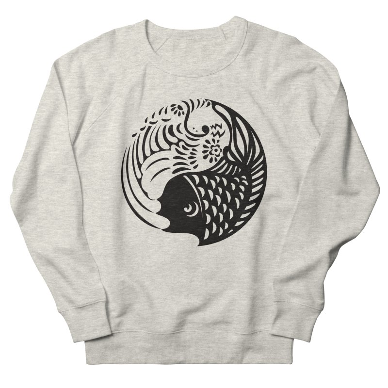 Yin Yang West Logo Black Men's Sweatshirt by yinyangwest's Artist Shop