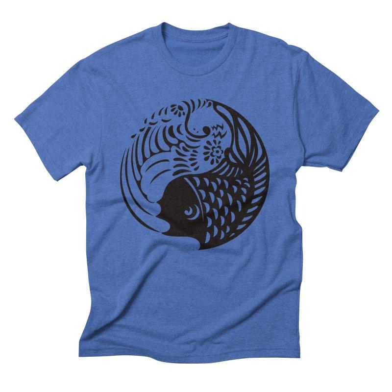 Yin Yang West Logo Black Men's Triblend T-Shirt by yinyangwest's Artist Shop
