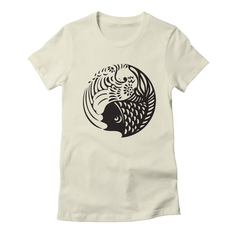 Yin Yang West Logo Black Women's Fitted T-Shirt by yinyangwest's Artist Shop