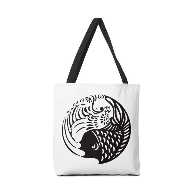 Yin Yang West Logo Black Accessories Bag by yinyangwest's Artist Shop