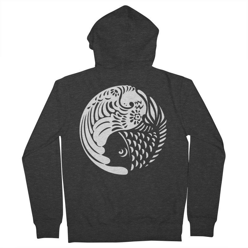 Yin Yang West Logo White Men's Zip-Up Hoody by yinyangwest's Artist Shop