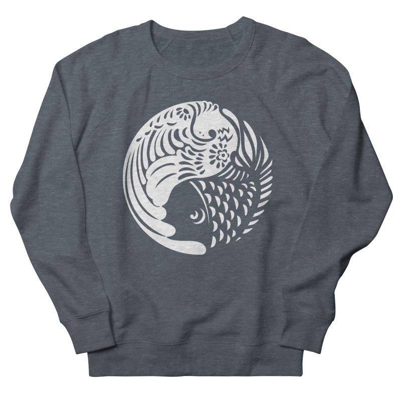 Yin Yang West Logo White Men's Sweatshirt by yinyangwest's Artist Shop