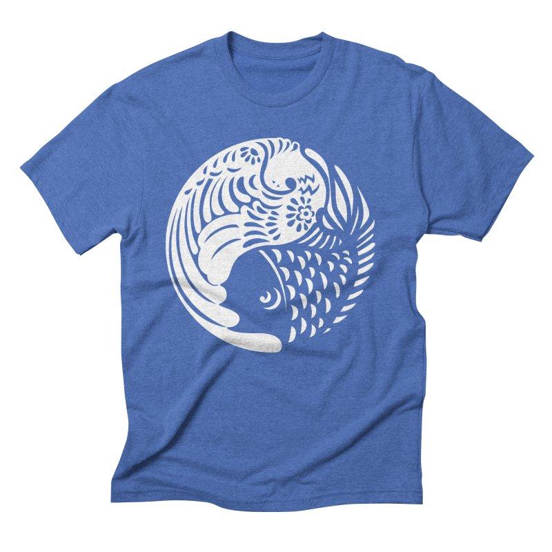 Yin Yang West Logo White Men's Triblend T-shirt by yinyangwest's Artist Shop