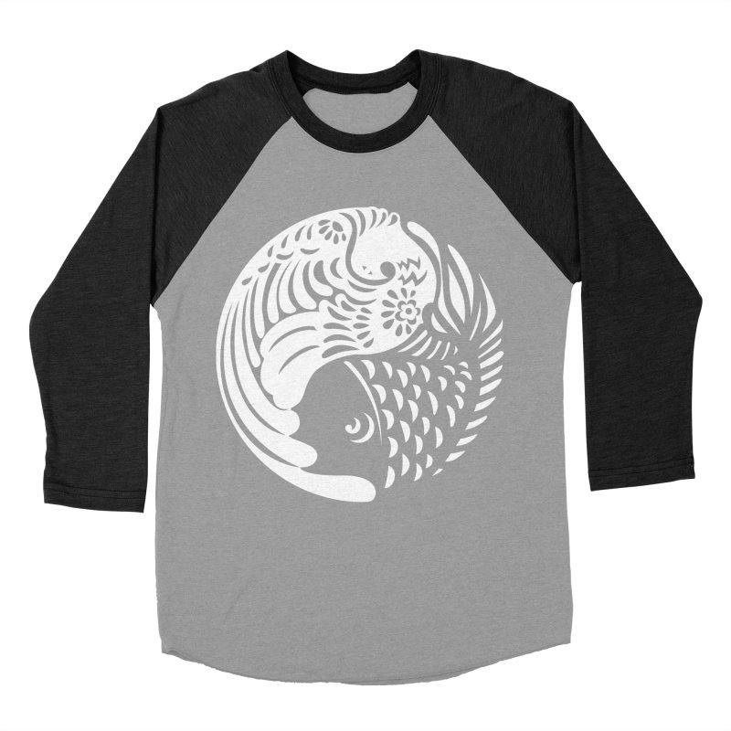 Yin Yang West Logo White Women's Baseball Triblend T-Shirt by yinyangwest's Artist Shop