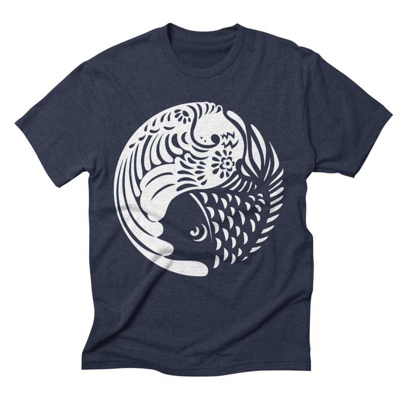 Yin Yang West Logo White Men's Triblend T-shirt by yinyangwest's Artist Shop