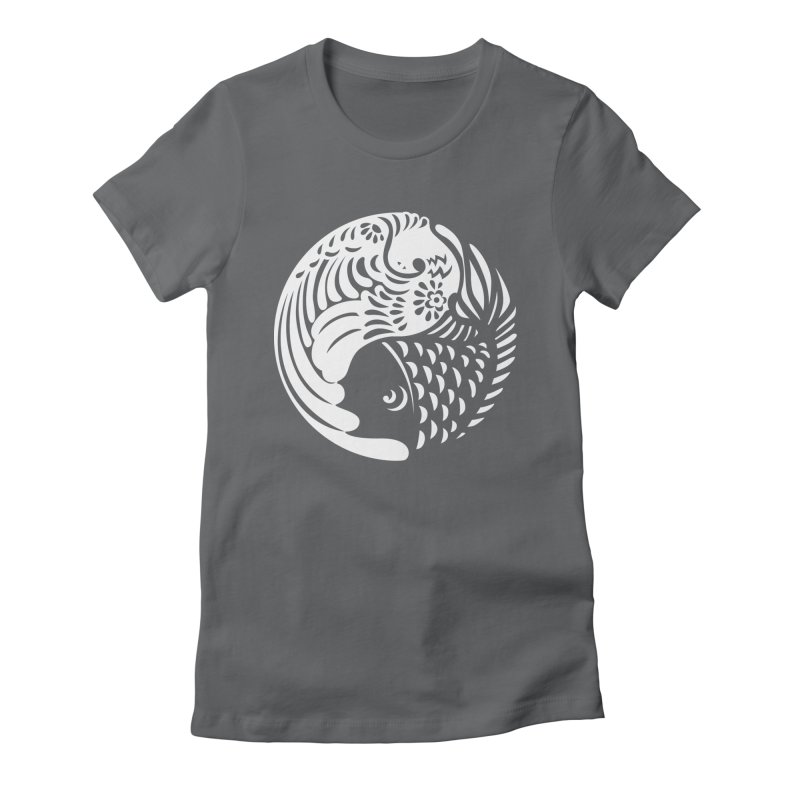 Yin Yang West Logo White Women's Fitted T-Shirt by yinyangwest's Artist Shop