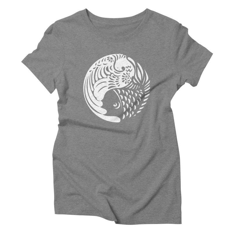 Yin Yang West Logo White Women's Triblend T-Shirt by yinyangwest's Artist Shop