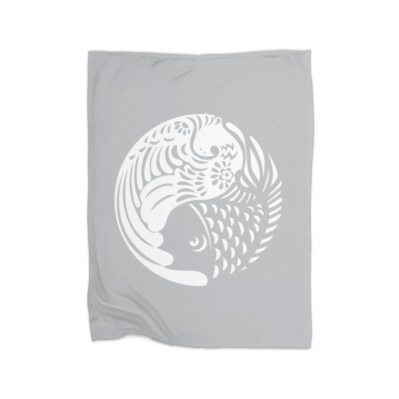 Yin Yang West Logo White Home Blanket by yinyangwest's Artist Shop
