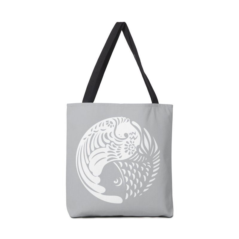 Yin Yang West Logo White Accessories Bag by yinyangwest's Artist Shop