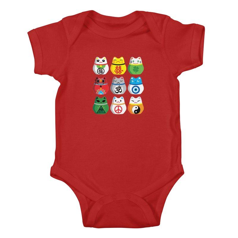 Maneki Nekos Kids Baby Bodysuit by yinyangwest's Artist Shop