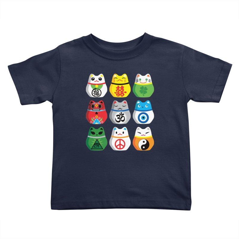 Maneki Nekos Kids Toddler T-Shirt by yinyangwest's Artist Shop