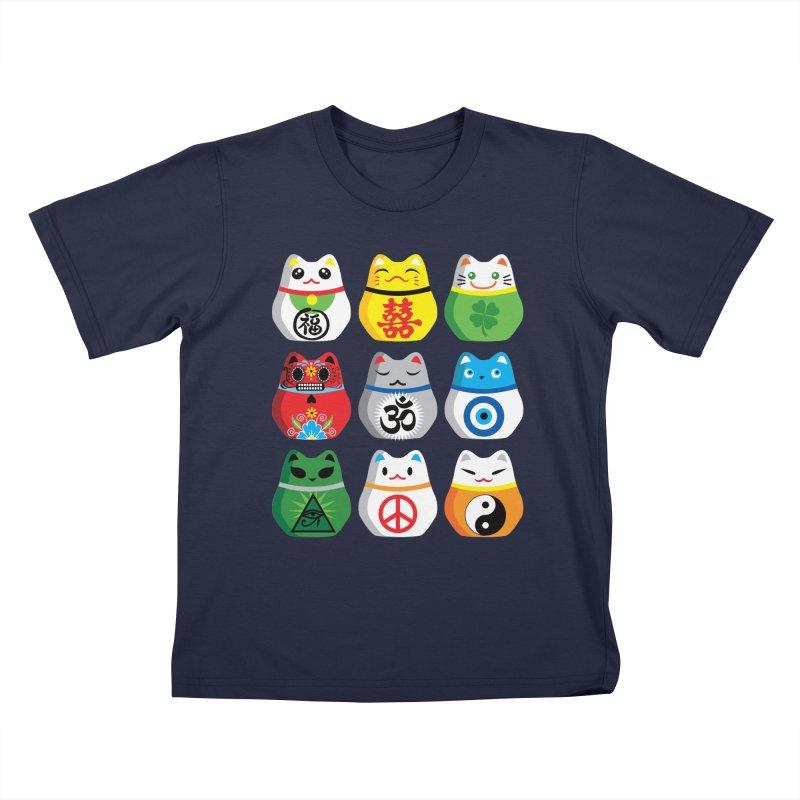 Maneki Nekos Kids T-shirt by yinyangwest's Artist Shop