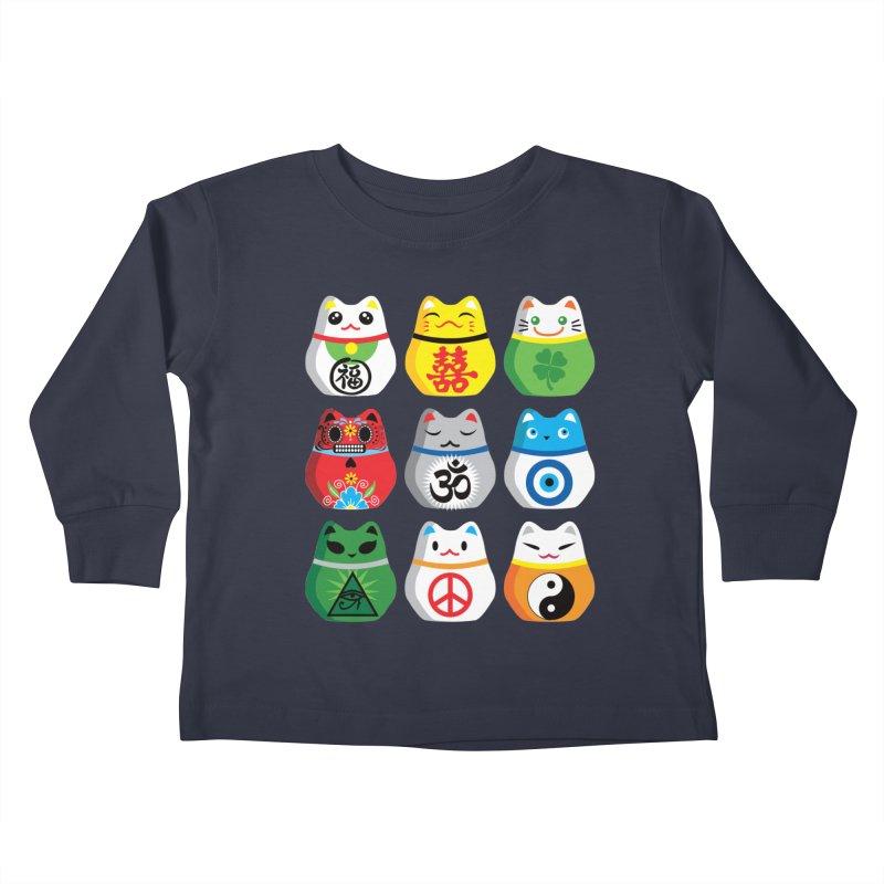 Maneki Nekos Kids Toddler Longsleeve T-Shirt by yinyangwest's Artist Shop