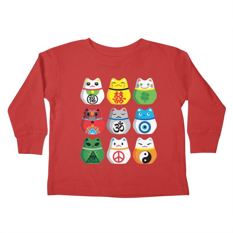 Maneki Nekos Kids Toddler Longsleeve T-Shirt by yinyangwest's Artist Shop