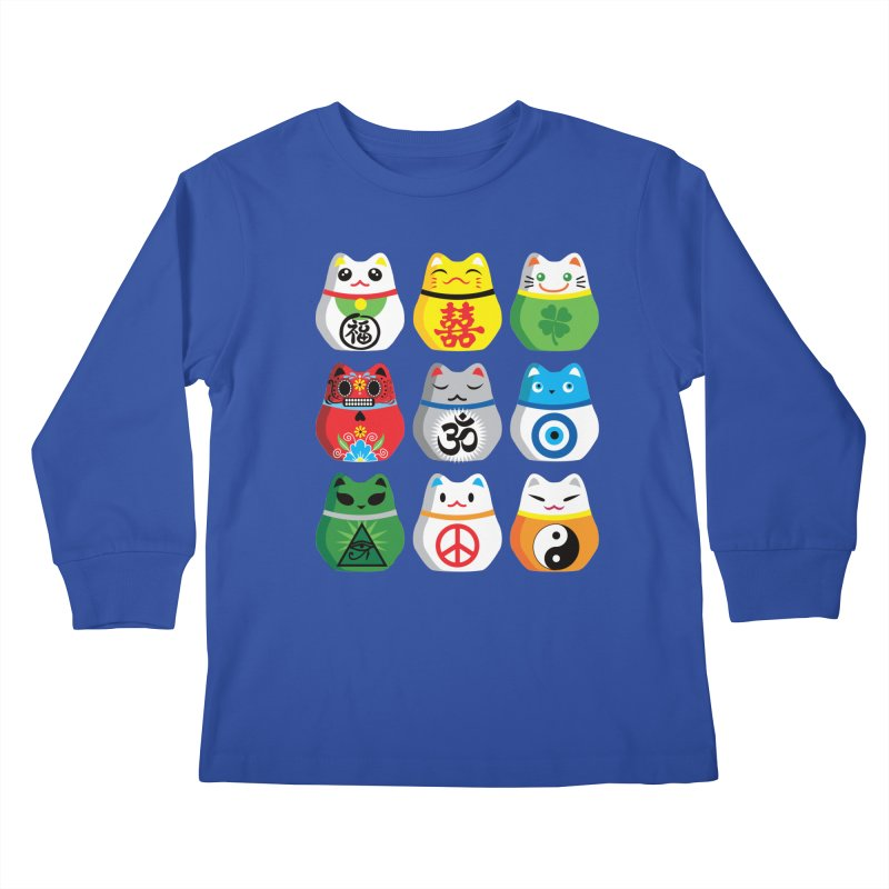 Maneki Nekos Kids Longsleeve T-Shirt by yinyangwest's Artist Shop