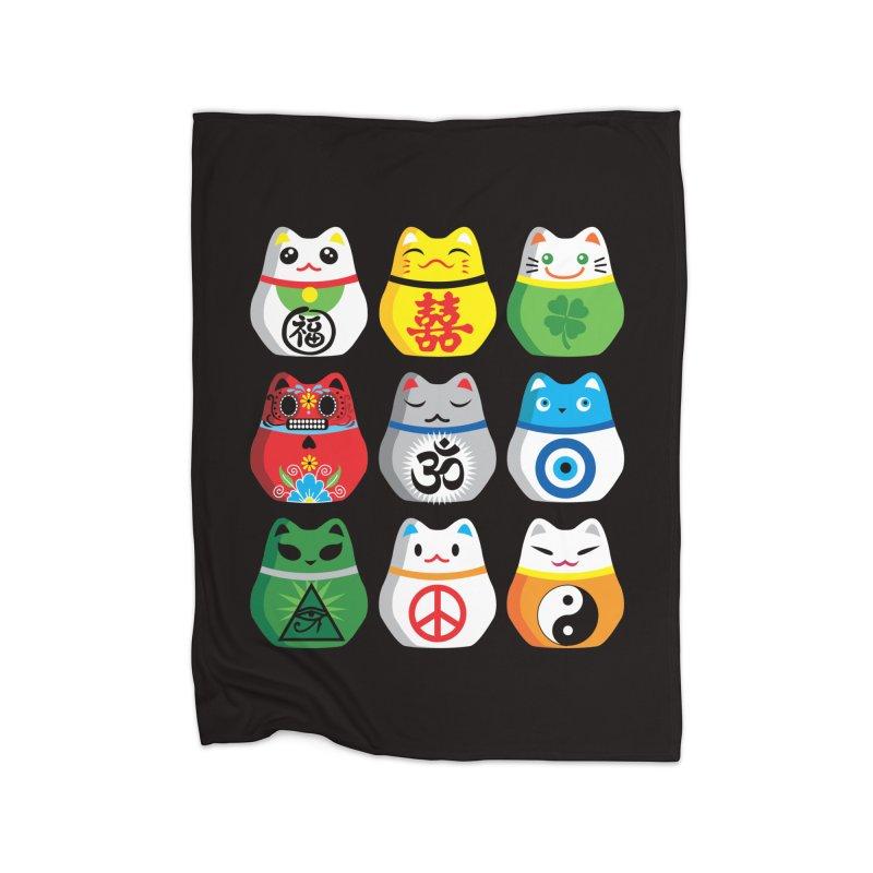 Maneki Nekos Home Blanket by yinyangwest's Artist Shop