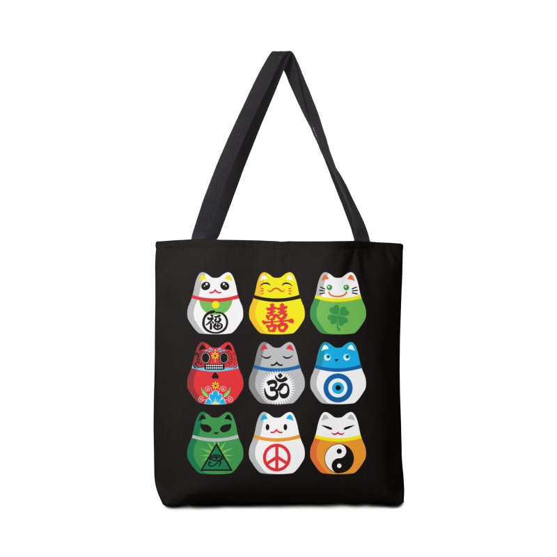 Maneki Nekos Accessories Bag by yinyangwest's Artist Shop