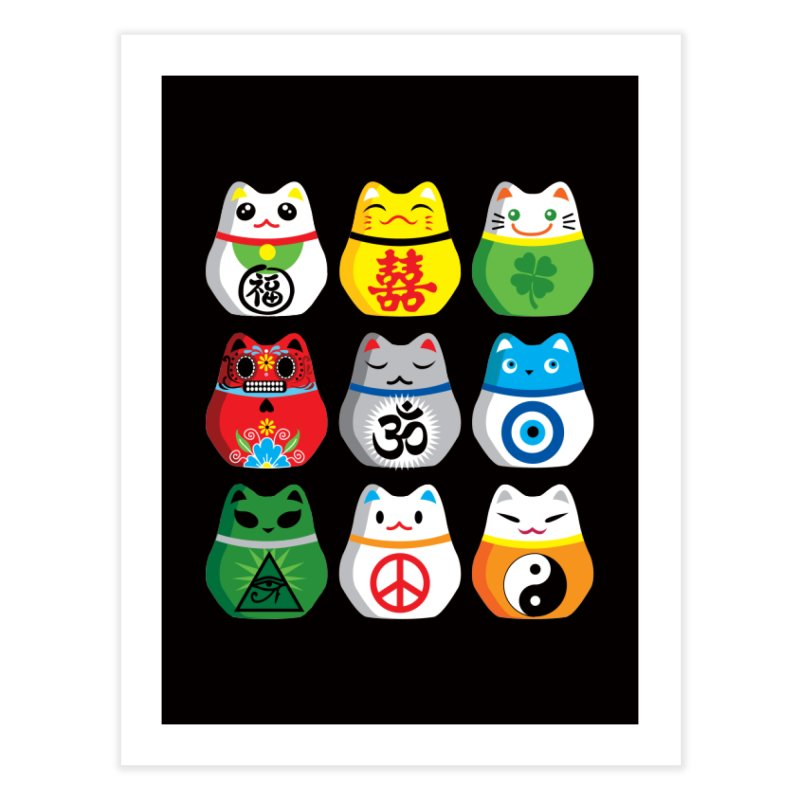 Maneki Nekos Home Fine Art Print by yinyangwest's Artist Shop